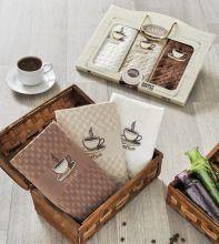 """Комплект салфеток  вафельных с вышивкой """"KARNA"""" DEVON  45x65 - 3 шт.  Арт.2442-1"""