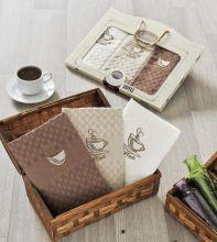 """Комплект салфеток  вафельных с вышивкой """"KARNA"""" DEVON  45x65 - 3 шт.  Арт.2442-2"""