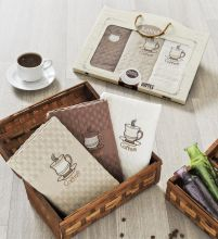 """Комплект салфеток  вафельных с вышивкой """"KARNA"""" DEVON  45x65 - 3 шт.  Арт.2442-3"""