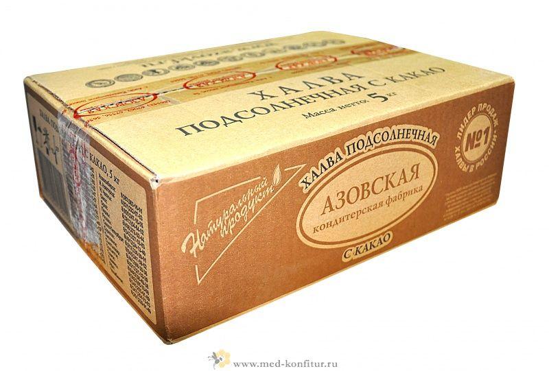 Халва подсолнечная с какао/5 (уп.)