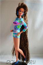 "Винтажная кукла Брюнетка Барби ""С волосами до пят"" - Тоtally Hair Brunette Barbie doll 1991"