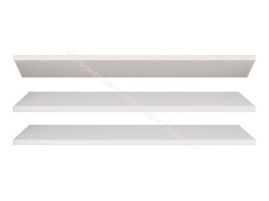 Комплект из 3-х полок Виктория Мод.18 Белый глянец