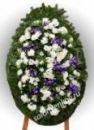 Элитный траурный венок из живых цветов №32, РАЗМЕР 100см,120см,140см,170см