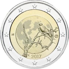 Финская природа  2 евро Финляндия 2017