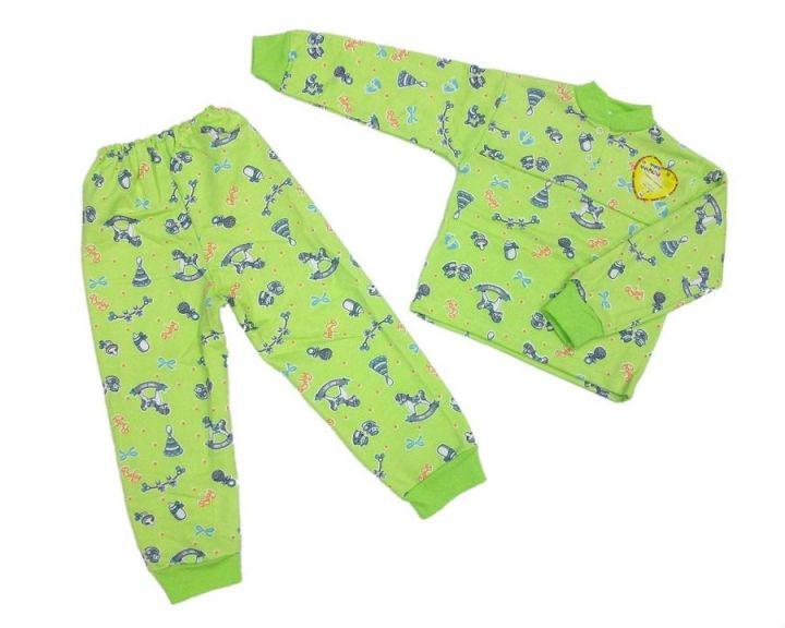 Пижама с кокеткой C-PJ023(2)-ITn (футер с начесом)