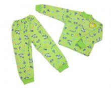 """Пижама с начесом для мальчиков и девочек C-PJ023(2)-ITn (код 01595) оптом """"Мамин Малыш"""""""