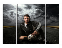 Модульная картина Футболист с мячом