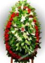 Элитный траурный венок из живых цветов №48, РАЗМЕР 100см,120см,140см,170см