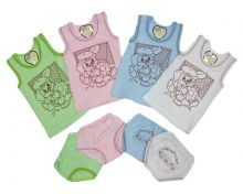 Комплект детский жатка: майка, трусы A2-KM047-JT (01589) Мамин Малыш OPTMM.RU