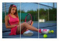 Модульная картина Розовый теннис