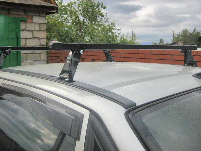 Багажник на крышу Daewoo Nexia, Евродеталь, стальные дуги