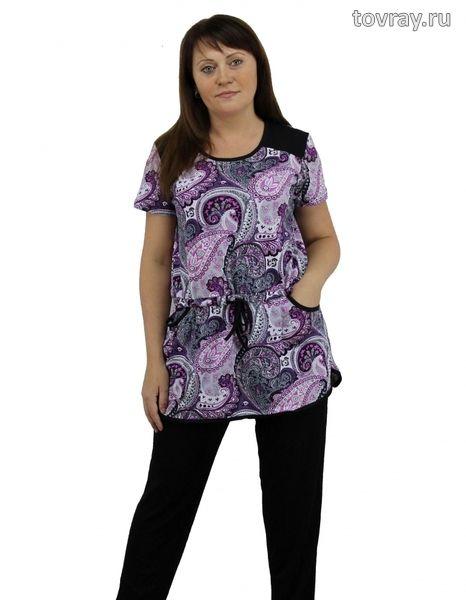 Sale Туника женская Соня на кулисе с карманами Efri St26 (SF)