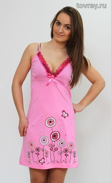 Sale Ночная сорочка Цветы Efri Си-45 (Sib)