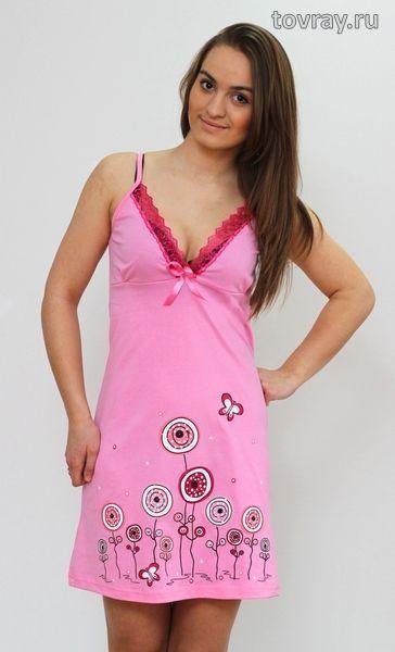 Sale Сорочка женская Цветы Efri Си-45 (Sib)