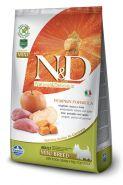 N&D Dog Grain Free Pumpkin Boar & Apple  Mini Adult Беззерновой корм для взрослых собак мелких пород Кабан/тыква/яблоко (800 г)