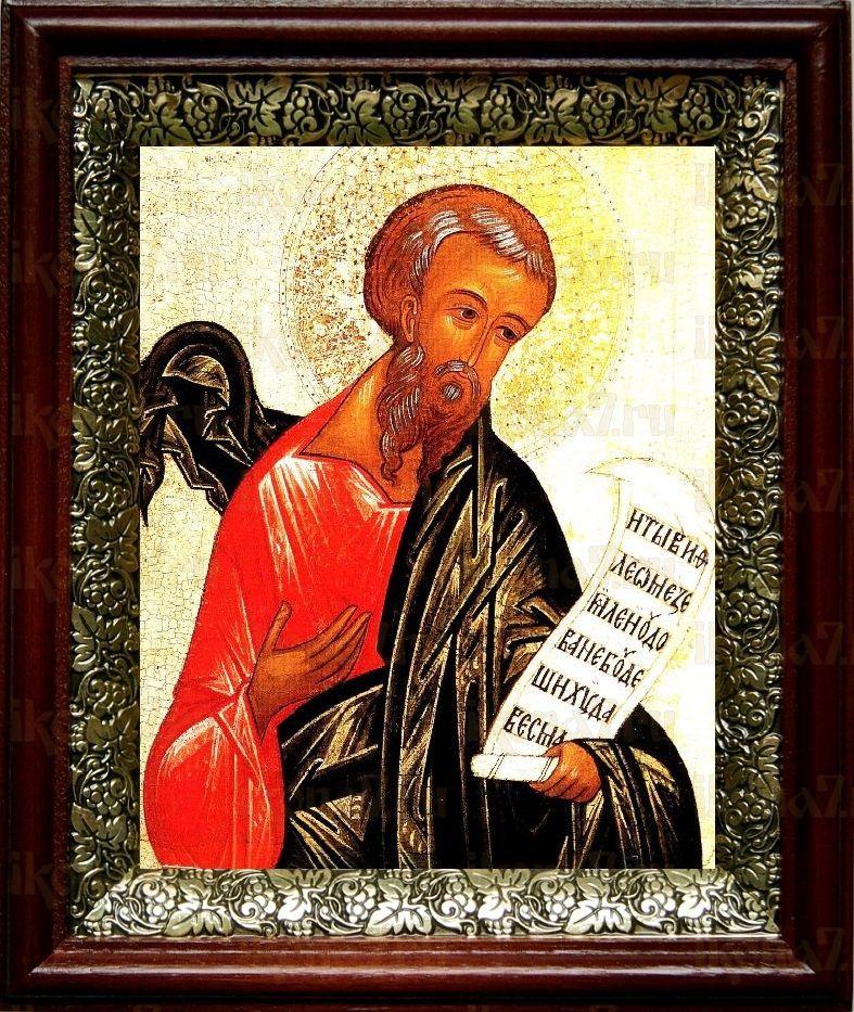 Михей, пророк (19х22), темный киот