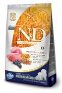 N&D Dog Low Grain Lamb & Blueberry Puppy Medium & Maxi Спельта, овес, ягненок, черника. Полнорационный низкозерновой корм для щенков беременных и кормящих собак средних и крупных пород. (12 кг)