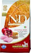 N&D Dog Low Grain Chicken & Pomegranate  Mini Adult Senior Низкозерновой корм для взрослых собак мелких  пород старше 7лет  Курица/гранат (800 гр)
