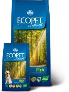 Ecopet Natural Fish Medium Корм для взрослых собак крупных пород с рыбой (12 кг)