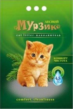 Наполнитель Мурзик Лесной древесные гранулы 4,5л.