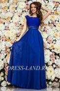 Синее вечернее платье в пол