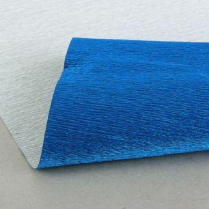 №805 металл Гофр.бумага (синий металл)