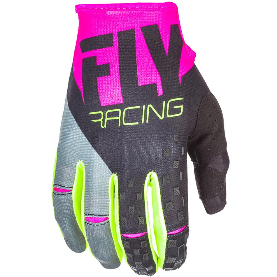 Fly - 2018 Kinetic перчатки, розово-черные Hi-Vis