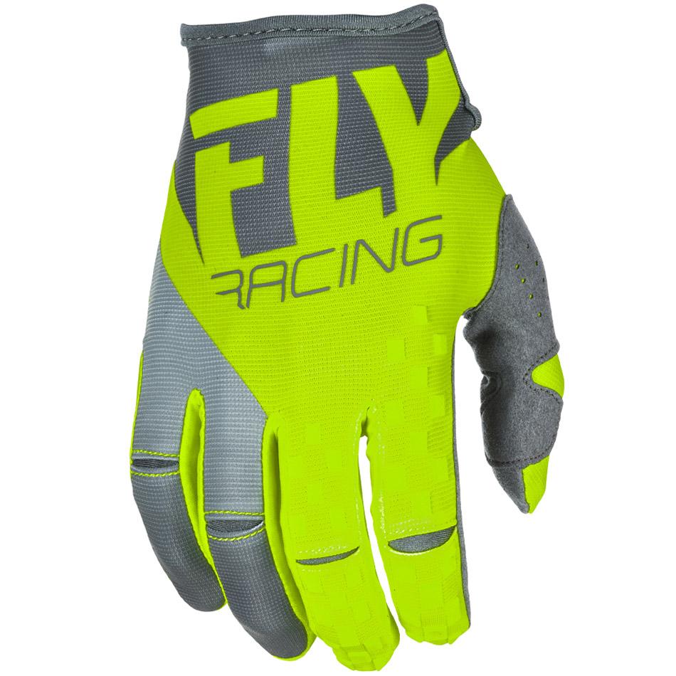 Fly - 2018 Kinetic перчатки, серые Hi-Vis