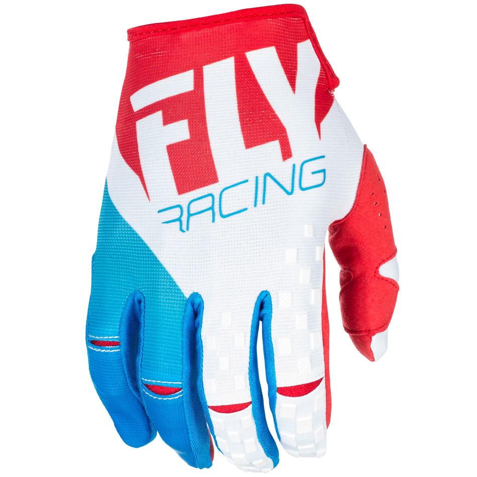 Fly - 2018 Kinetic перчатки, красно-бело-синий