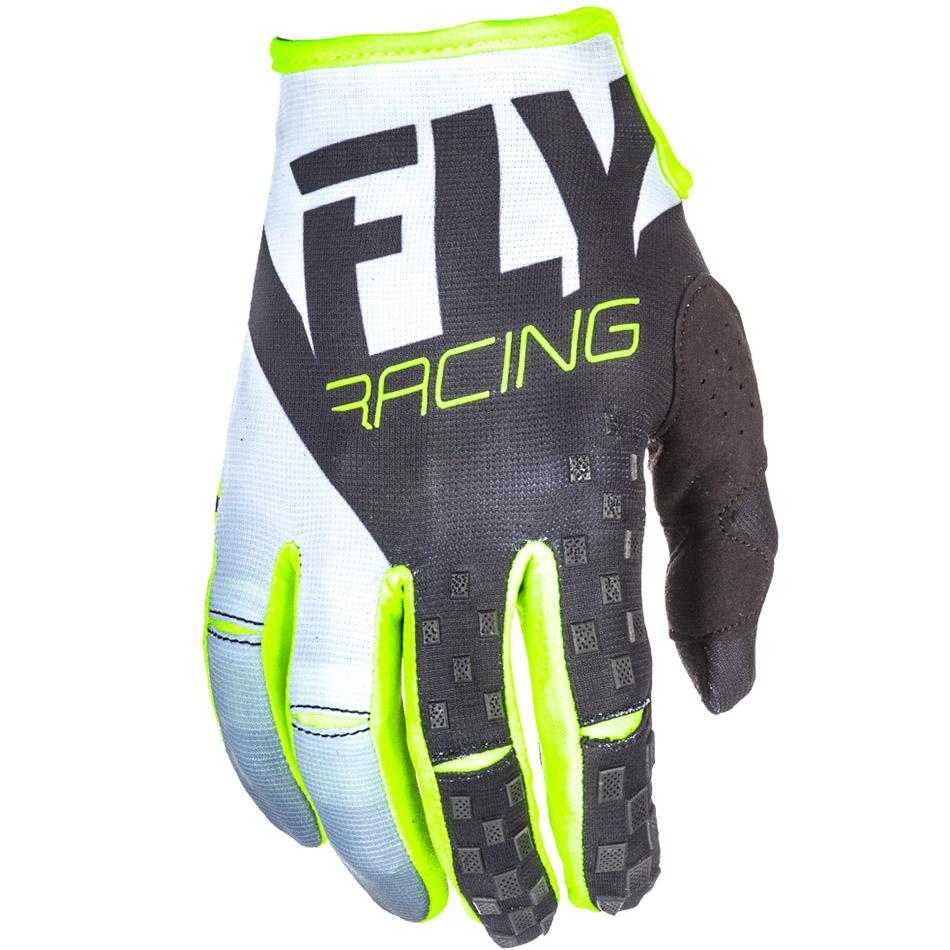 Fly - 2018 Kinetic перчатки, черно-белые Hi-Vis