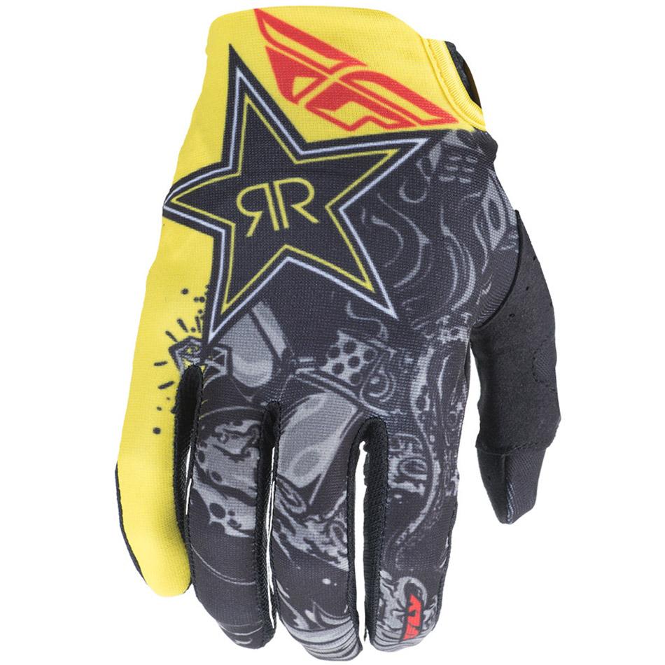 Fly - 2018 Lite Rockstar перчатки, черно-желтые