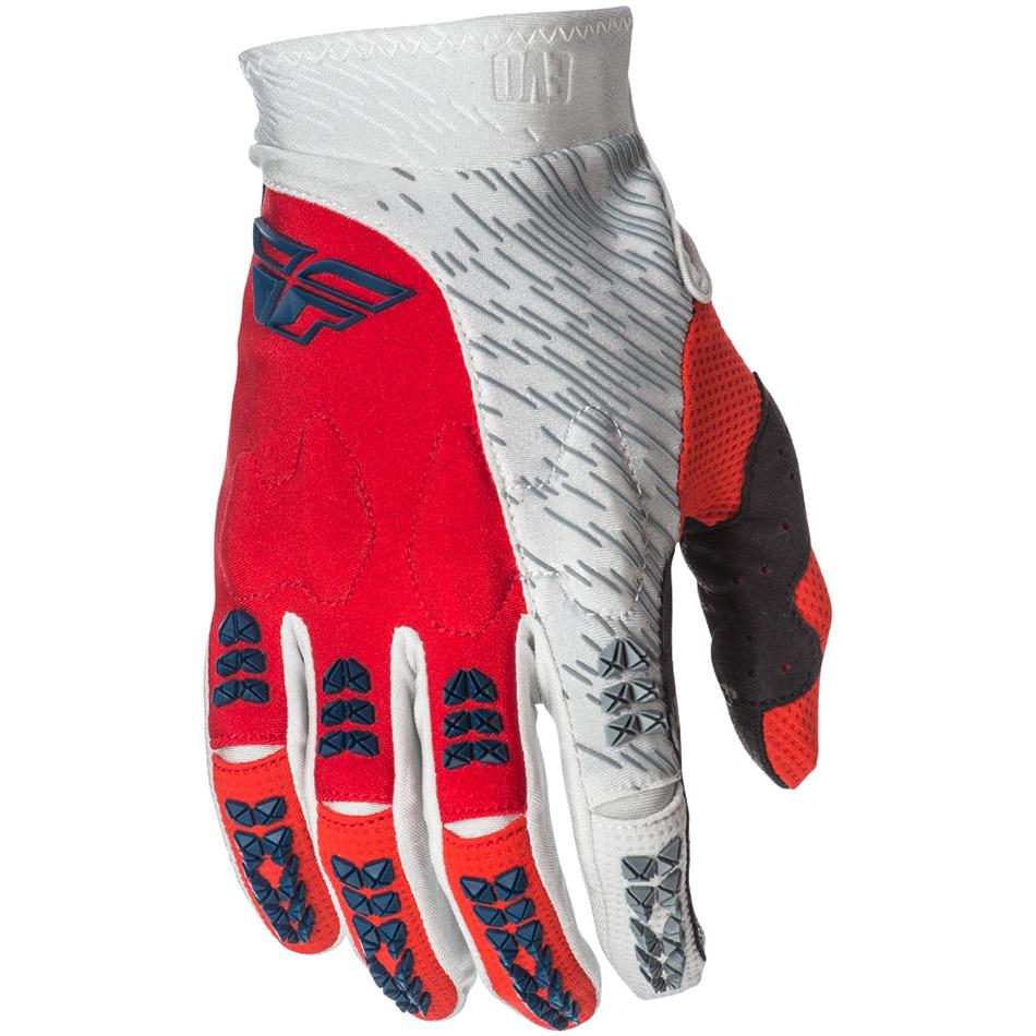 Fly - 2018 Evolution 2.0 перчатки, красно-серо-белые