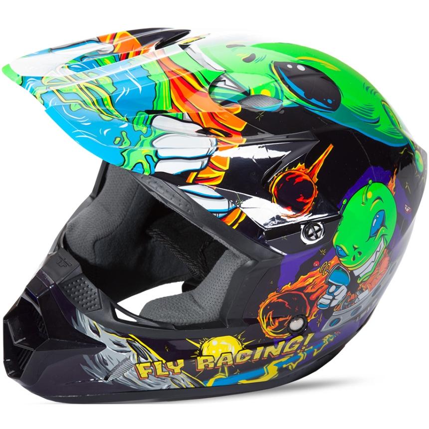 Fly - 2018 Kinetic Invazion Youth шлем подростковый, зеленый
