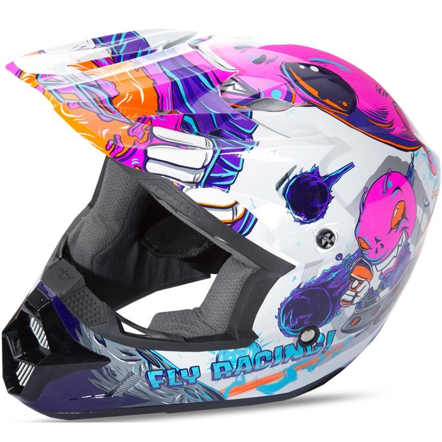 Fly - 2018 Kinetic Invazion Youth шлем подростковый, розовый