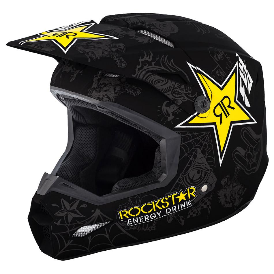 Fly - 2019 Elite Rockstar шлем, черно-серо-желтый