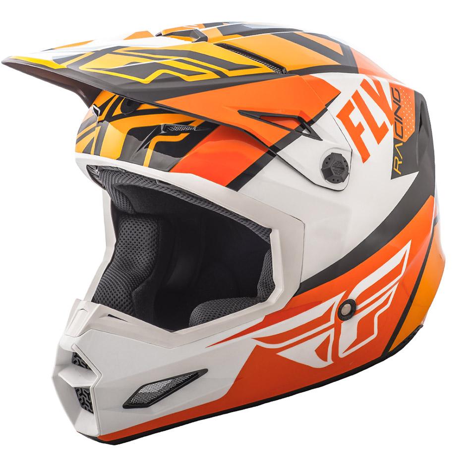 Fly - 2018 Elite Guild шлем, оранжево-бело-черный
