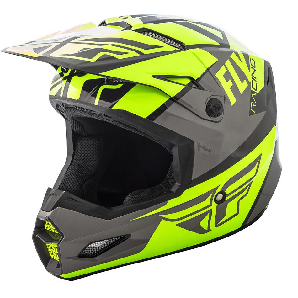 Fly - 2018 Elite Guild шлем, желто-серо-черный