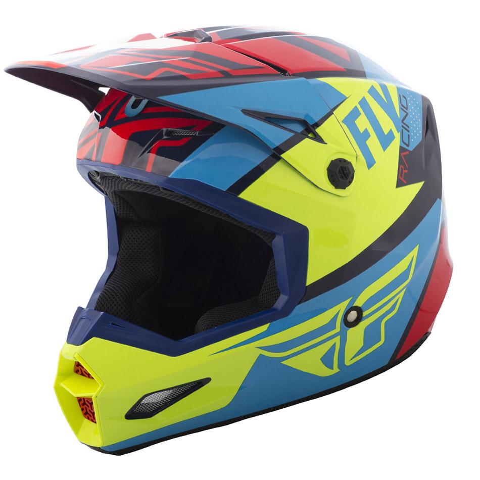 Fly - 2018 Elite Guild шлем, красно-сине-желтый