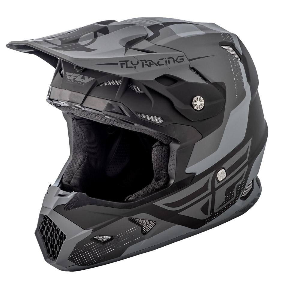 Fly - 2018 Toxin Original шлем, черно-серый матовый