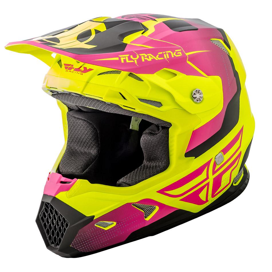 Fly - 2018 Toxin Original шлем, желто-розовый матовый