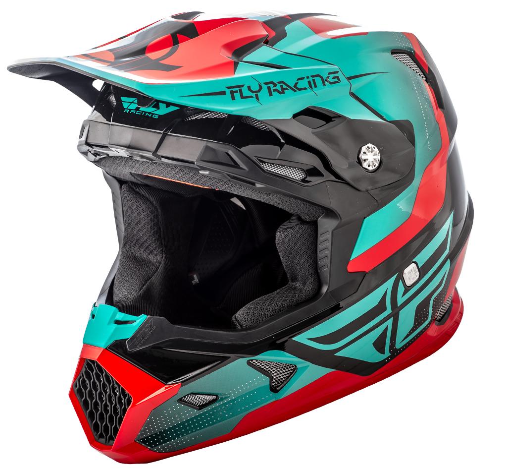 Fly - 2018 Toxin Original шлем, красно-зелено-черный