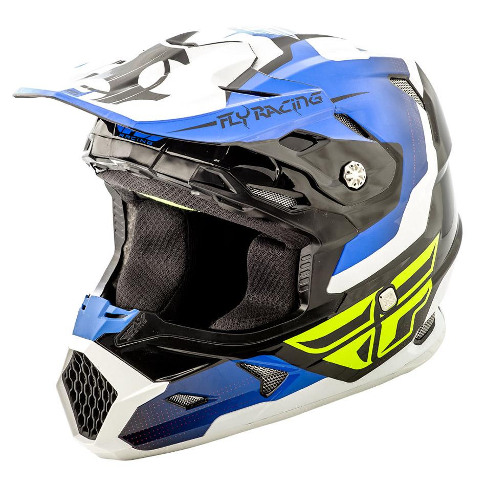 Fly - 2018 Toxin Original шлем, сине-черно-белый