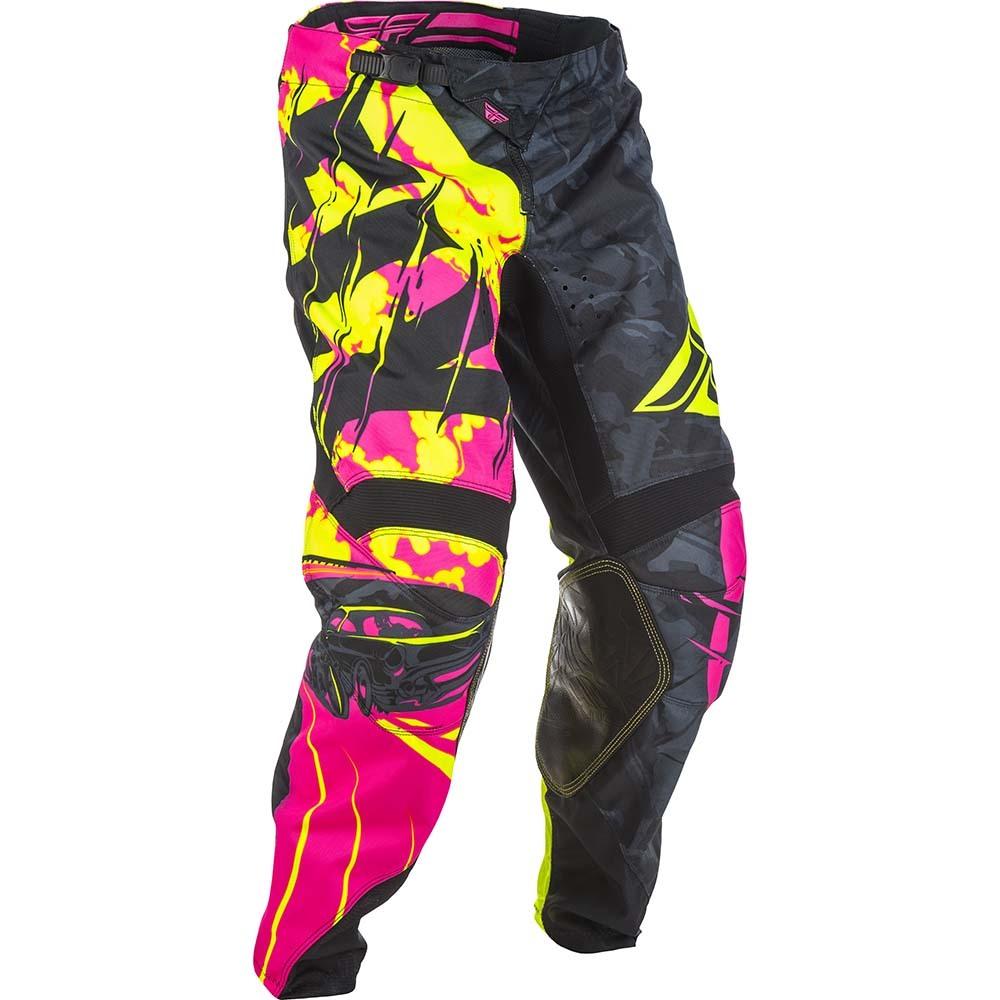 Fly - 2018 Kinetic Outlaw Neon штаны, черно-розовые Hi-Vis