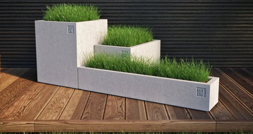 Горшок из бетона 9