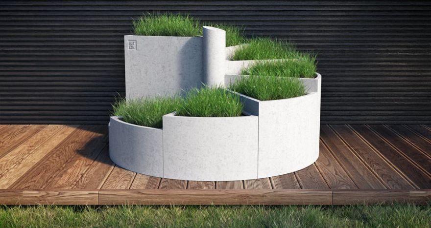 Горшок из бетона 10