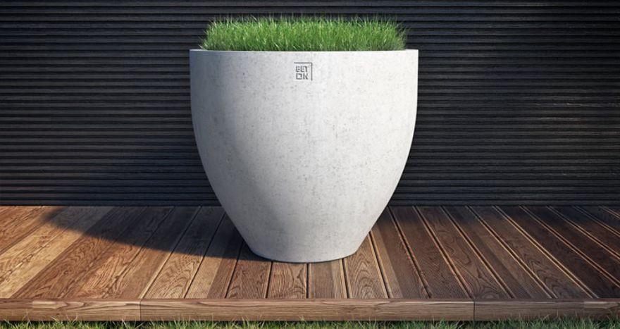 Горшок из бетона 7