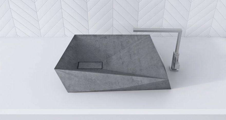 Умывальник из бетона 2