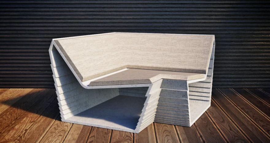 Скамейка из бетона 4