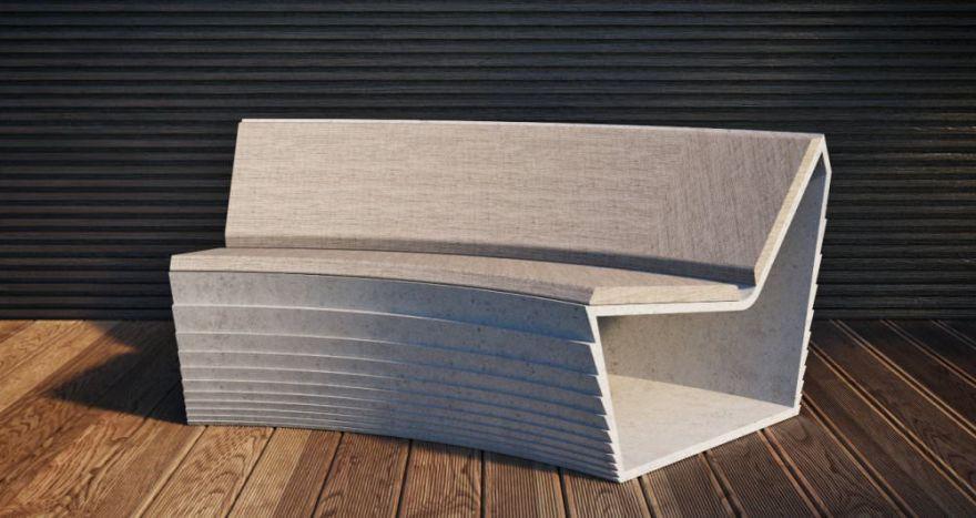 Скамейка из бетона 3