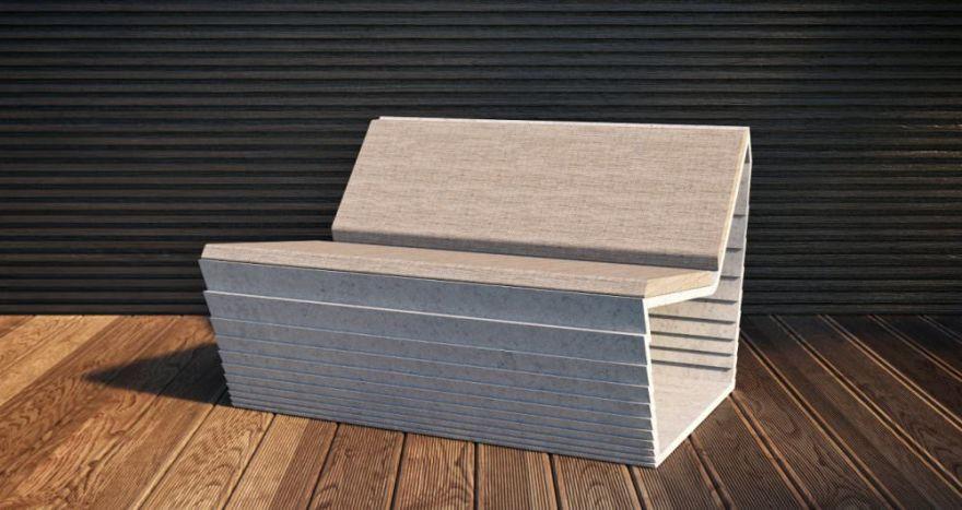 Скамейка из бетона 2